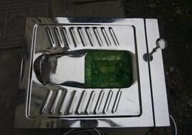 电动免水冲打包不锈钢蹲便器