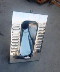 不锈钢反水弯蹲便器