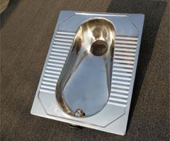 一体式前排水不锈钢蹲便器