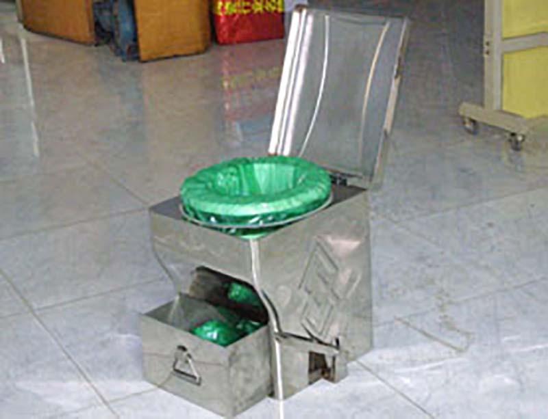 不锈钢打包座便器(集便型)