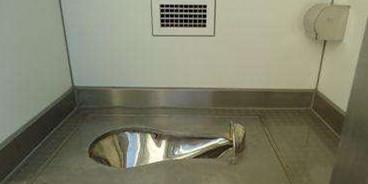 不锈钢水冲蹲便器